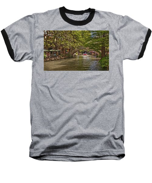 San Antonio Riverwalk Baseball T-Shirt by Steven Sparks