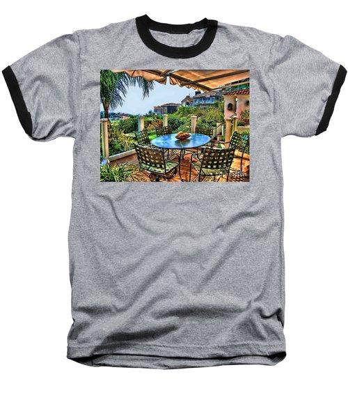 San Clemente Estate Patio Baseball T-Shirt