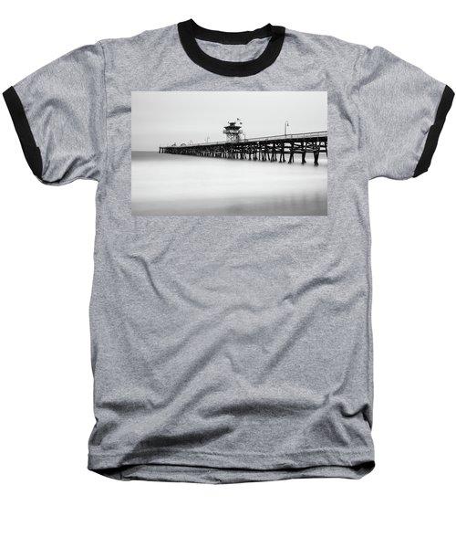 San Clemente Pier Baseball T-Shirt by Tassanee Angiolillo