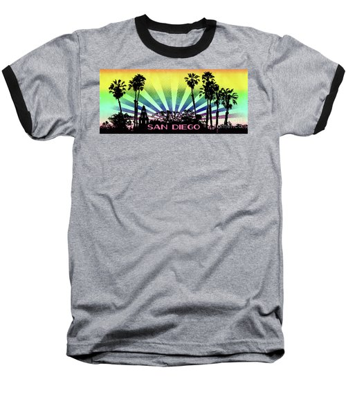 San Diego - Balboa Park Silhouette Baseball T-Shirt