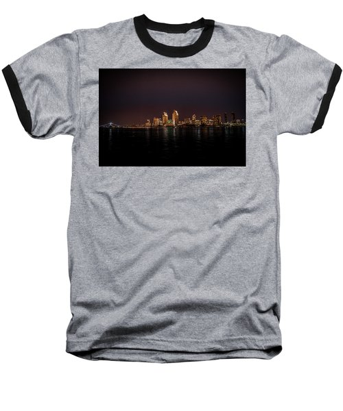 Baseball T-Shirt featuring the photograph San Diego Harbor by John Johnson
