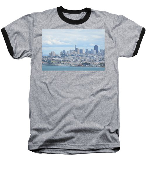 Baseball T-Shirt featuring the photograph San Francisco by Alex King