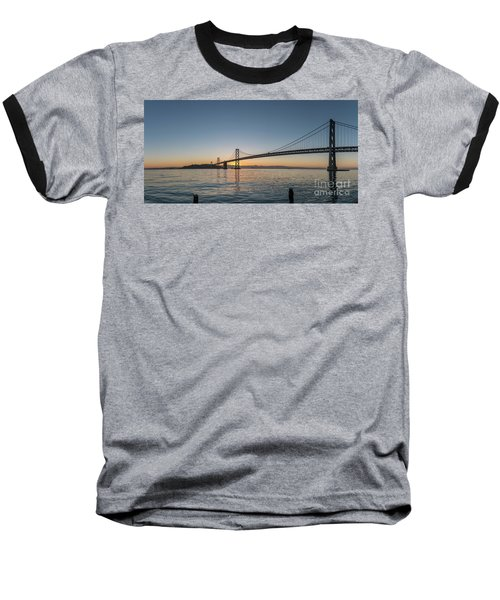 San Francisco Bay Brdige Just Before Sunrise Baseball T-Shirt