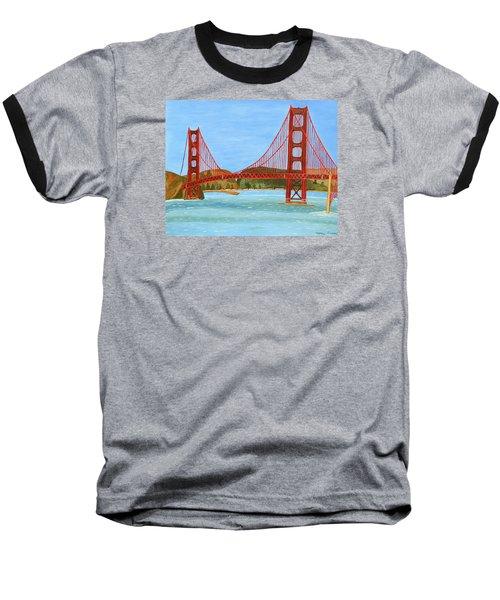 San Francisco Bridge  Baseball T-Shirt by Magdalena Frohnsdorff