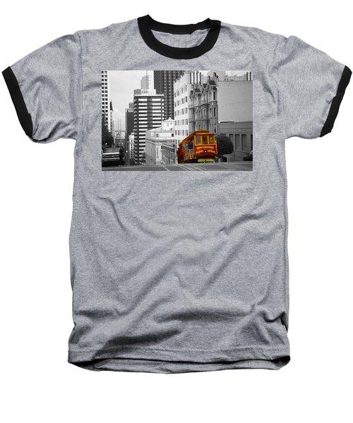 San Francisco Cable Car - Highlight Photo Baseball T-Shirt