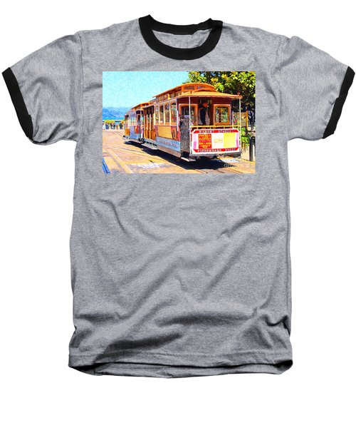 San Francisco Cablecar At Fishermans Wharf . 7d14097 Baseball T-Shirt