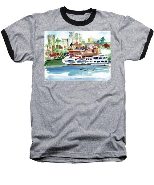 San Francisco Cityfront From Aquatic Park Baseball T-Shirt by Tom Simmons