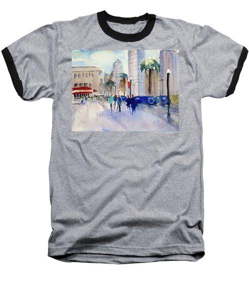 San Francisco Embarcadero1 Baseball T-Shirt by Tom Simmons