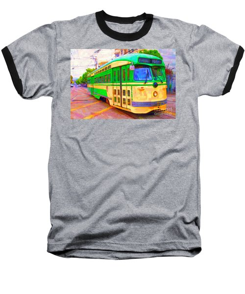 San Francisco F-line Trolley Baseball T-Shirt
