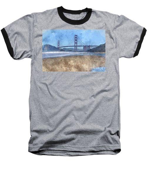 San Francisco Golden Gate Bridge In California Baseball T-Shirt
