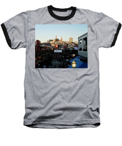 Baseball T-Shirt featuring the photograph San Francisco In The Sun by Tony Mathews