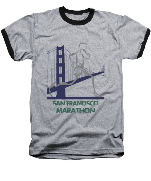 San Francisco Marathon2 Baseball T-Shirt by Joe Hamilton