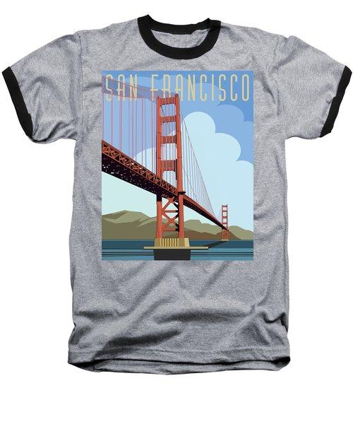 San Francisco Poster  Baseball T-Shirt