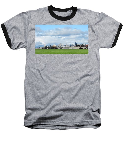 San Francisco Skyline From Crissy Field Baseball T-Shirt by Mark Barclay