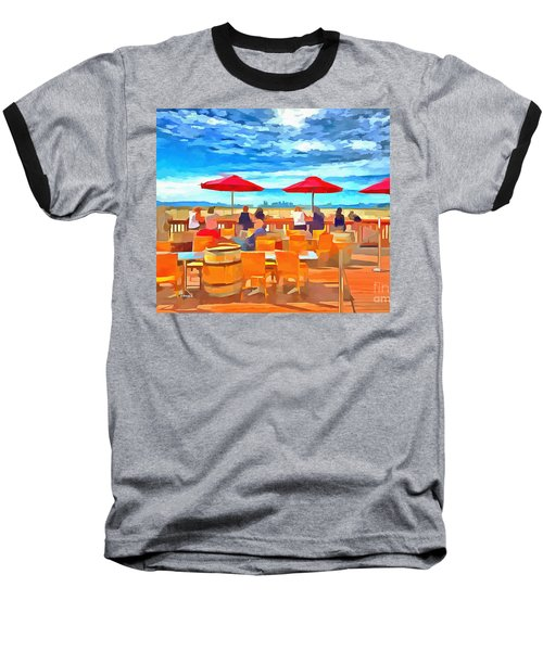 San Francisco Skyline From Alameda  Baseball T-Shirt by Linda Weinstock