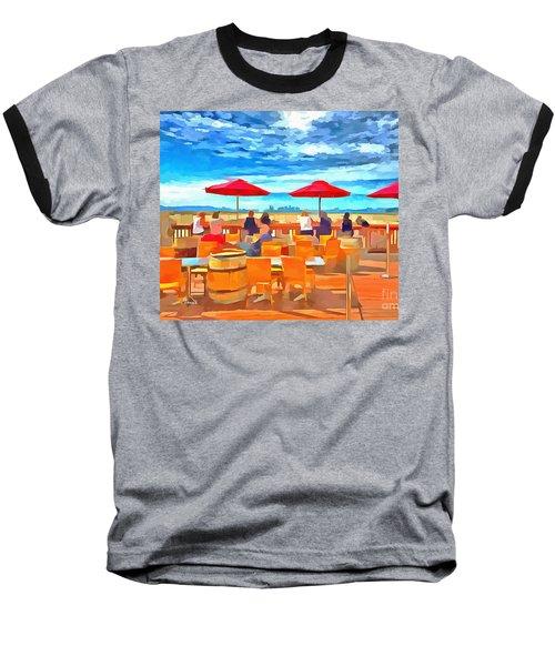 San Francisco Skyline From Alameda  Baseball T-Shirt