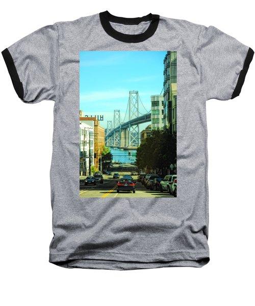San Francisco Street Baseball T-Shirt by Donna Blackhall