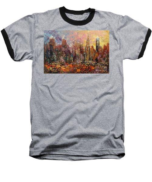 San Francisco Baseball T-Shirt by Tatiana Iliina
