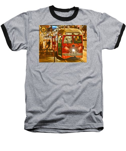 San Francisco's Ferry Terminal Baseball T-Shirt by Steve Siri