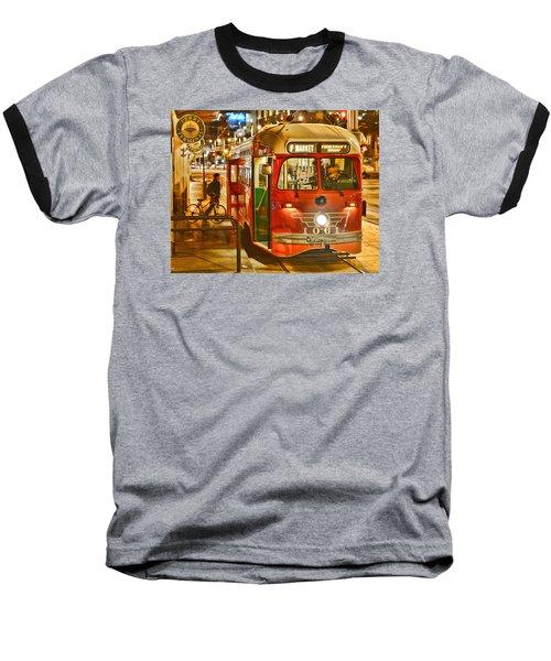 Baseball T-Shirt featuring the photograph San Francisco's Ferry Terminal by Steve Siri