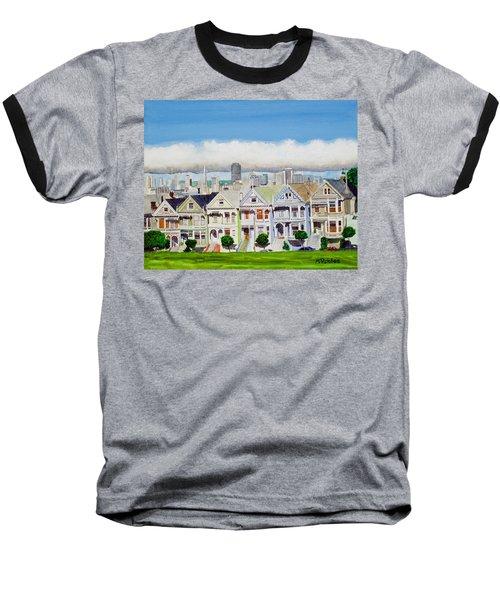 San Francisco's Painted Ladies Baseball T-Shirt