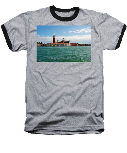 Baseball T-Shirt featuring the photograph San Giorgio Maggiore Canal Shot by Robert Moss
