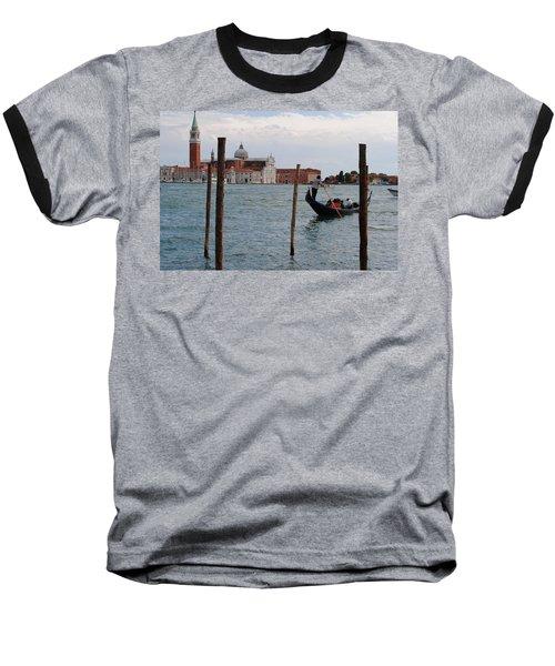 San Giorgio Maggiore Gondola Baseball T-Shirt by Robert Moss