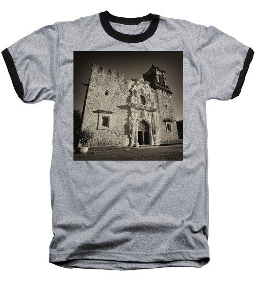 Baseball T-Shirt featuring the photograph San Jose Mission - San Antonio by Stephen Stookey