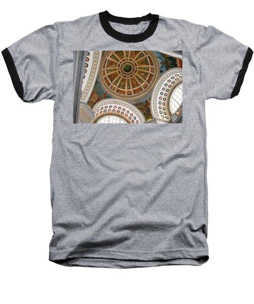 San Juan Capital Building Ceiling Baseball T-Shirt by Lois Lepisto