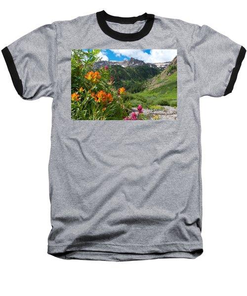 San Juans Indian Paintbrush Landscape Baseball T-Shirt
