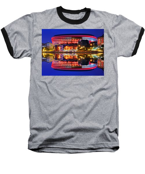 San Mames Stadium At Night With Water Reflections Baseball T-Shirt