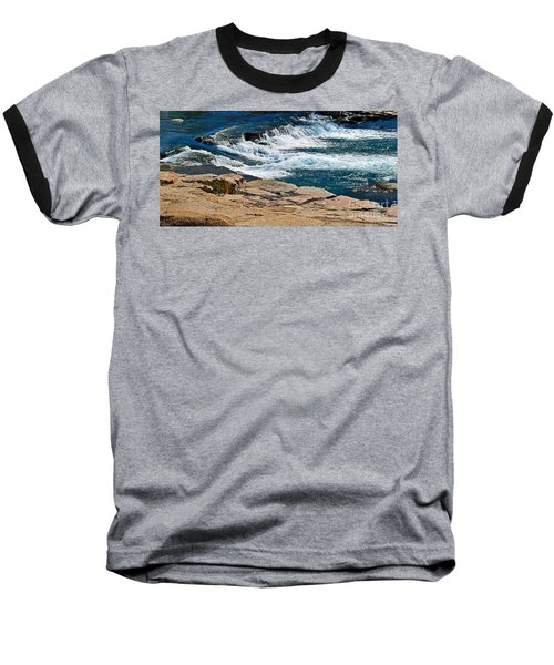 San Marcos River Waterfall  Baseball T-Shirt by Ray Shrewsberry