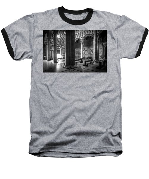 Baseball T-Shirt featuring the photograph San Miniato Al Monte by Sonny Marcyan