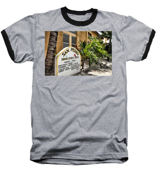 San Pedro Roman Catholic Church Baseball T-Shirt by Lawrence Burry
