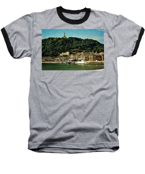 San Sebastian Spain Baseball T-Shirt by Mary Machare