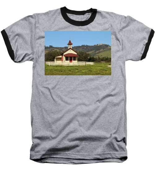 Baseball T-Shirt featuring the photograph San Simeon - Castle And Schoolhouse by Art Block Collections
