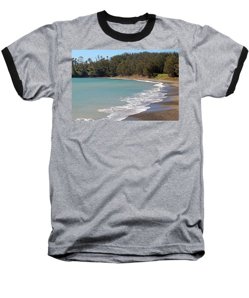 Baseball T-Shirt featuring the photograph San Simeon Cove by Art Block Collections