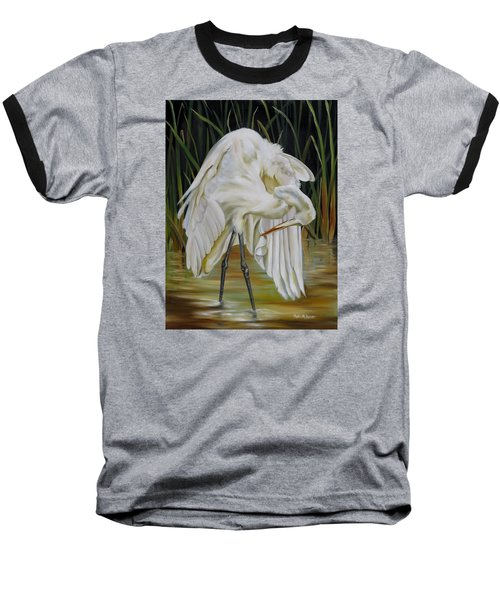 Baseball T-Shirt featuring the painting Sanctuary by Phyllis Beiser