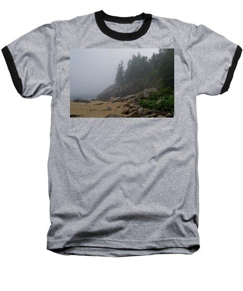 Sand Beach In A Fog Baseball T-Shirt