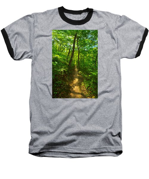 Sand Cave Trail Baseball T-Shirt by Phil Koch