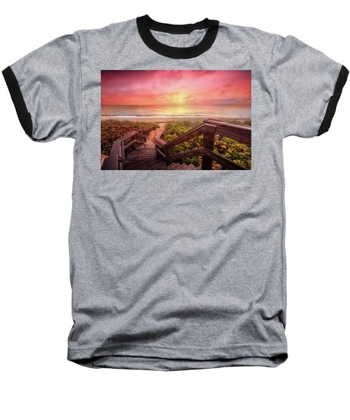 Baseball T-Shirt featuring the photograph Sand Dune Morning by Debra and Dave Vanderlaan