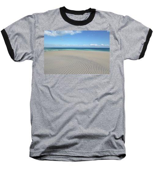 Sand Dune Ripples And The Ocean Beyond Baseball T-Shirt