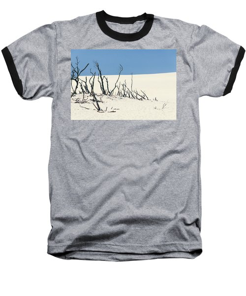 Sand Dune With Dead Trees Baseball T-Shirt by Chevy Fleet
