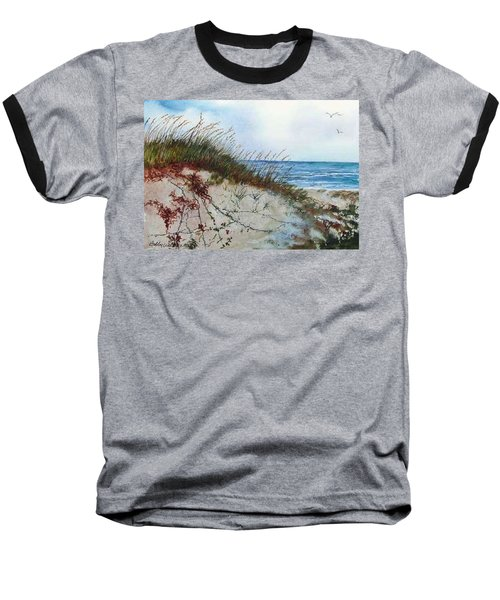 Sand Dunes And Sea Oats Baseball T-Shirt