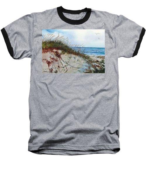 Sand Dunes And Sea Oats Baseball T-Shirt