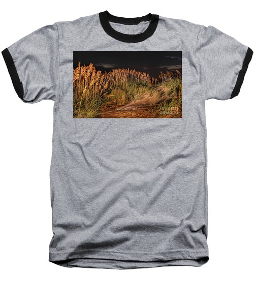 Sand Dunes At Night On The Outer Banks Baseball T-Shirt by Dan Carmichael