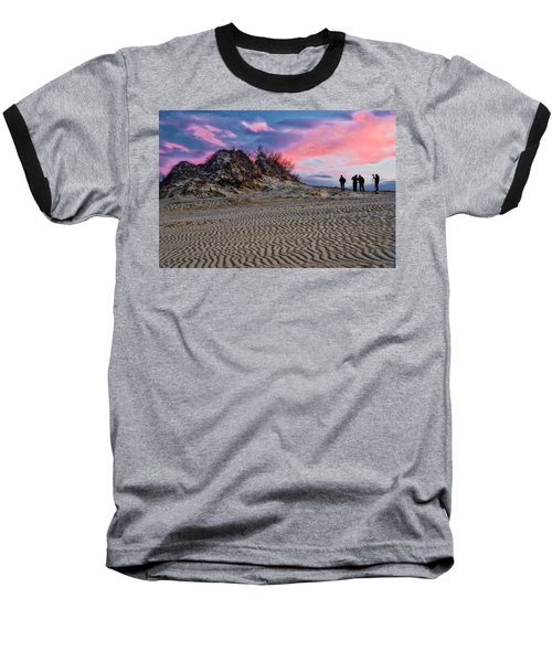 Sand Dunes Of Kitty Hawk Baseball T-Shirt