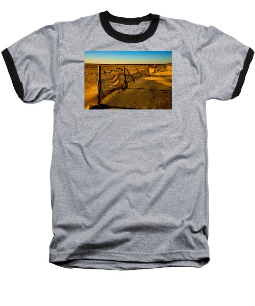 Sand Fences At Lands End II Baseball T-Shirt by John Harding
