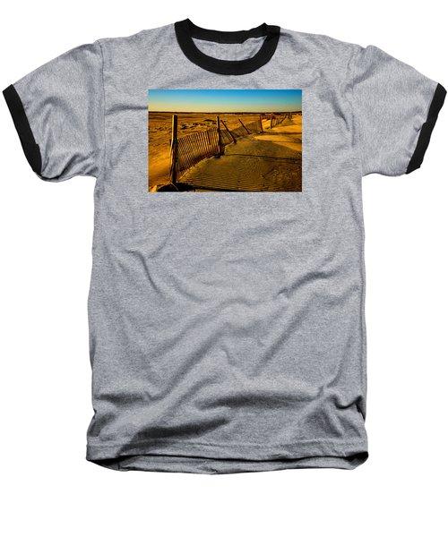 Sand Fences At Lands End II Baseball T-Shirt