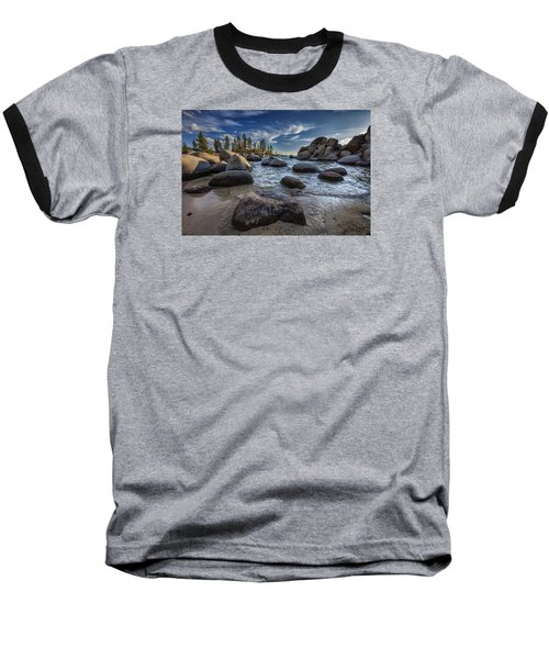 Sand Harbor II Baseball T-Shirt by Rick Berk